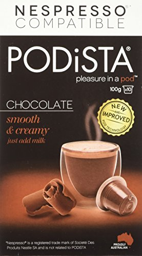 (Hot Chocolate Nespresso Compatible Capsules Hot Cocoa Pods - Smooth & Creamy - 10 Pod Package)