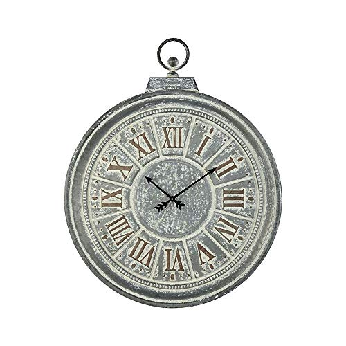 Sterling Industries 3129-1164 Bowdoin - 33 Wall Clock, Galvanized Steel/White Antique/Gold Finish