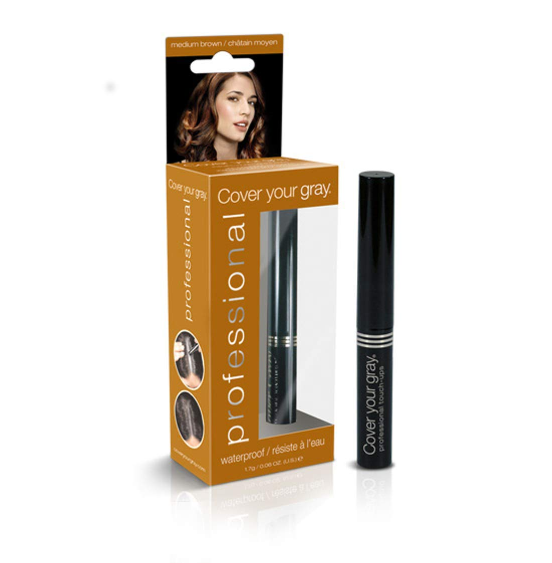 Cover Your Grey for Women Professional Touch Up Stick, Medium Brown, 1.7 Ounce Cov-0681