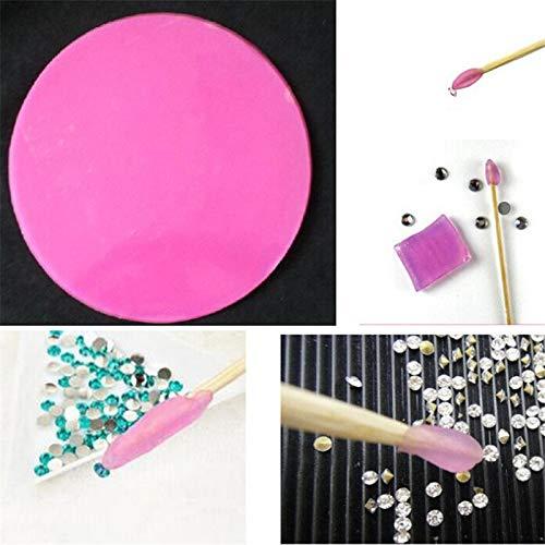 Diamond Disc - 2pc Nail Art Tools Rhinestone Diamond Point Pen Drilling Mud 1 Piece Paste Diy Sticker Dotting - By Arislux