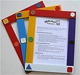 : Kids Art Frames - Button Frames - Multicolor Lightweight Plastic Frames - Standard Size