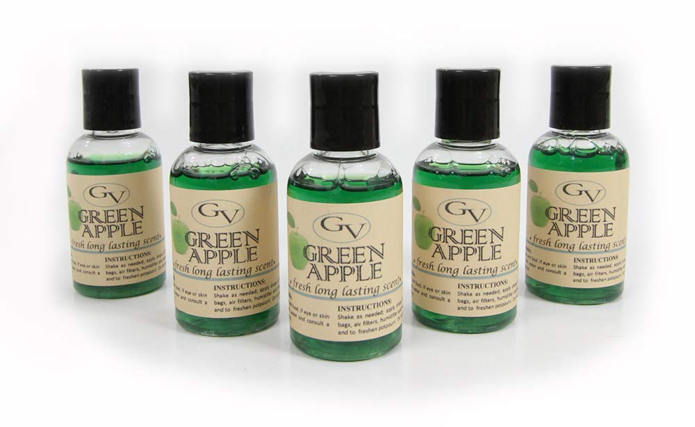GV 5 Pack Green Apple Vacuum Fragrance scents for Rainbow, Rainmate, Thermax, Hyla, Humidifiers 2 fl oz by GV