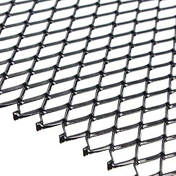Iycorish Universal Black Aluminium Racing Grille Mesh Vent Car Tuning Grill 100Cm X 33Cm