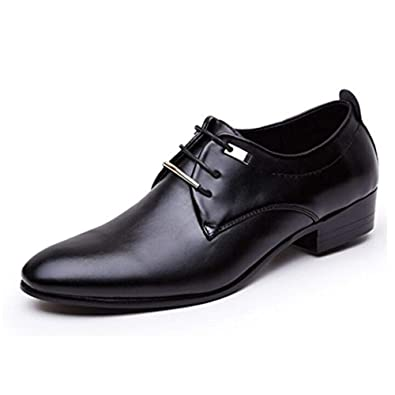 29b459771a9b JINGJING Men s Pointed Toe Lace up Formal Oxfords Business Casual Wedding  Dress Shoes