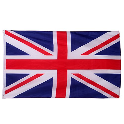 HDE British Union Jack Flag Great Britain United Kingdom Wall Tapestry(3 ft x 5 - Cycling Swimming Events And
