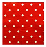 Kiera Grace 6 Packs of 20 Count 3-Ply Napkins – Red Dots