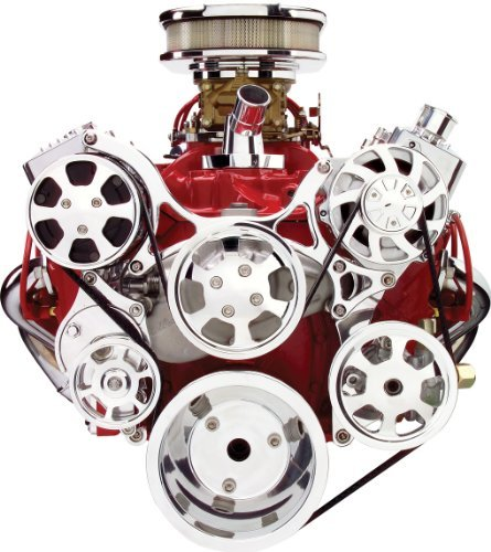 Billet Specialties 13220 Tru Trac Pulley System for Small Block Chevy by Billet Specialties (Image #1)