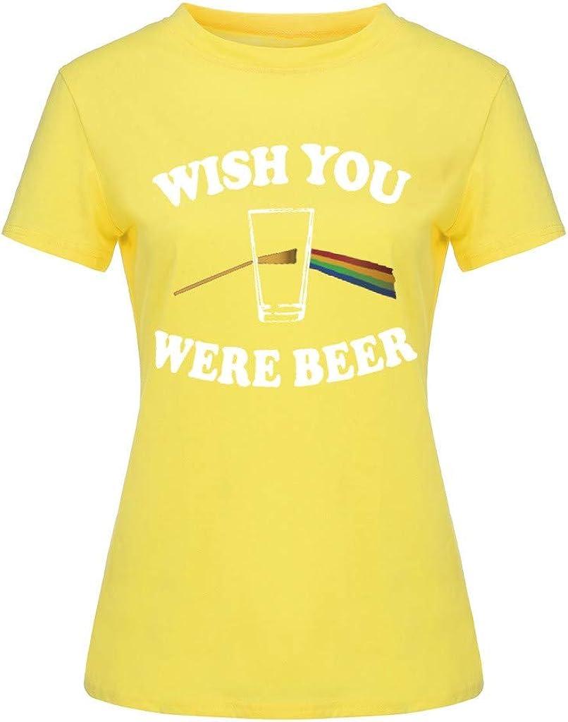 Moneycom Wishi - Camiseta de Manga Corta para Mujer, Talla Grande, con Estampado: Amazon.es: Ropa y accesorios