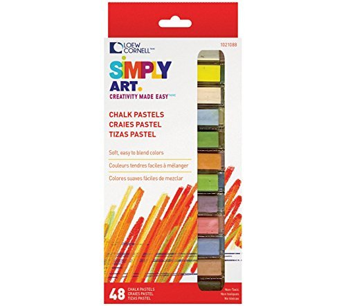 Loew Cornell 1021088 Simply Art Chalk Pastels by Loew-Cornell
