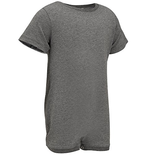 Special Needs Clothing For Older Children (3-16 yrs Old) - Short Sleeve Bodysuit For Boys & Girls by KayCey - Grey (3-4 Years Old) (Marks And Spencer T-shirt)