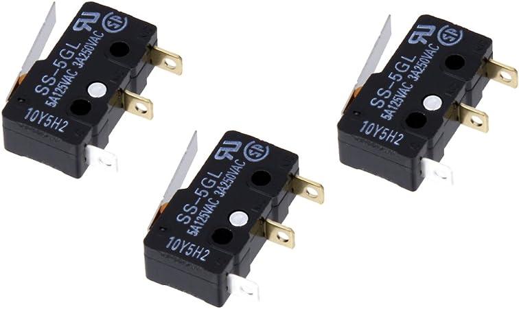 Homyl 3X Palanca del Interruptor de Límite Mini Interruptor de 3 ...