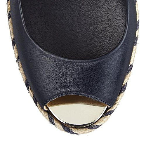 Black Women Hemp Fish With With Slope Comfort Mouth With Sandals Black Buckle High RRPqr
