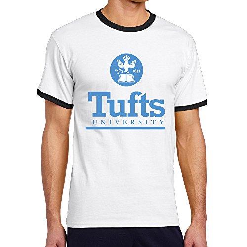 Price comparison product image WG Men's Two-toned Tshirts-Funny Tufts University TU Logo Black
