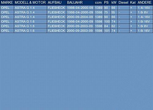 kit di montaggio pour ASTRA G 1.4 1.6 HATCHBACK 90//75//100//84//101hp 1998-2004 ETS-EXHAUST 51228 Silenziatore marmitta Posteriore