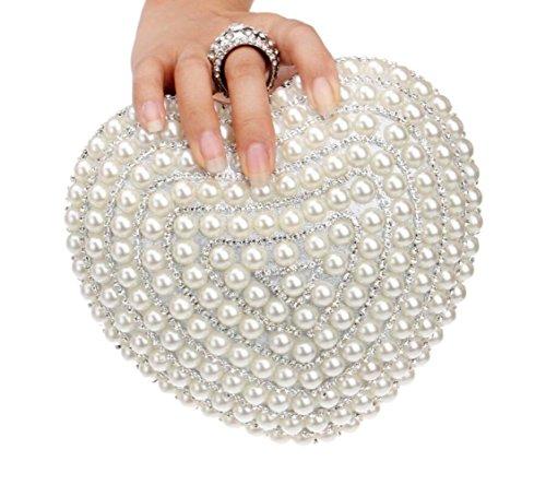 White Purse Bridal Bag Handbag Evening Clutch Diamante Handbag Wedding Crossbody Small Bridal Ladies Clutch Party Elegant w1A4xaZ