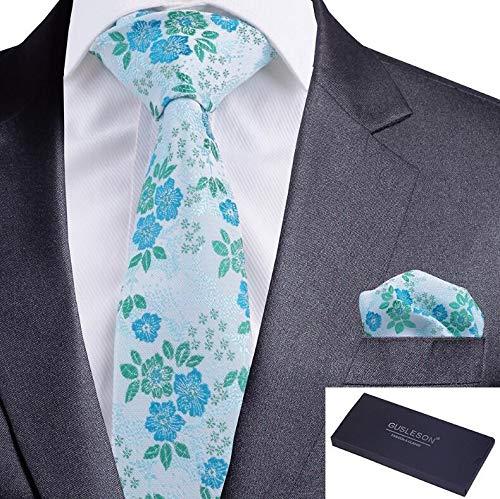 Txrh Corbatas Floral de Seda de los Hombres Lazo Rojo Verde Azul ...