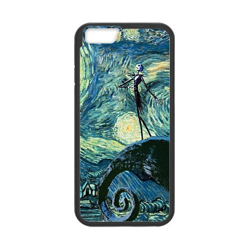 Fayruz- Personalized Protective Hard Textured Rubber Coated Cell Phone Case Cover Compatible with iPhone 6 & iPhone 6S - The Nightmare Before Christmas Cartoon F-i5G1149