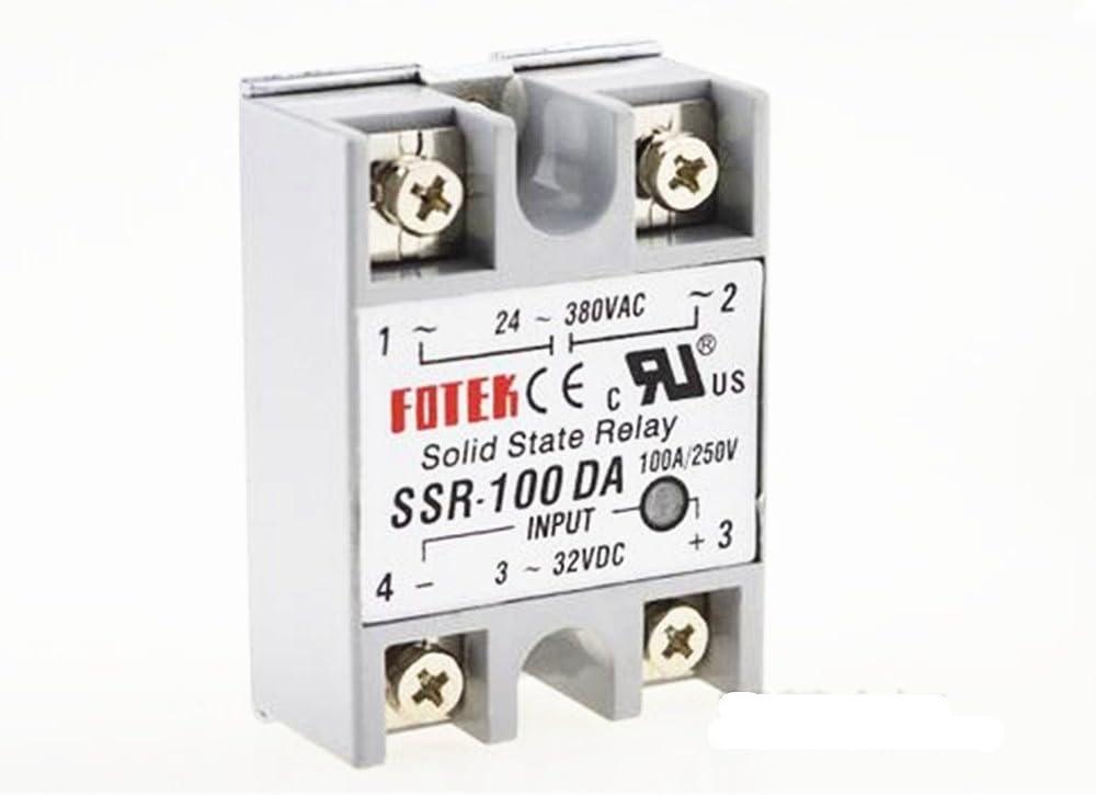 Relé de estado sólido SSR-100DA 100A Entrada de corriente de ...