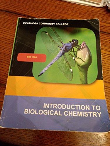 INTRO.TO BIOLOGICAL CHEMISTRY >CUSTOM<