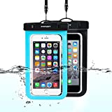 iphone 4 front blue screen - Universal Waterproof Case, FITFORT Waterproof Phone Pouch Dry Bag for iPhone X 8 7 Plus Galaxy S8 S7 Edge Note 5 4 HTC LG Sony Up to 5.5