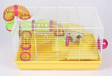 Jaula para roedores hámster grandes Equipamiento Amarillo con ...