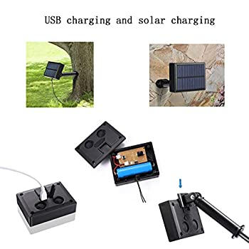 ANMIXIN Light Solar String Lamp Festival Deco Waterproof 8 Mode Exchange Can be USB Charging and Solar Charging, Convenient and Practical (multicolor 4)