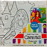 "Preprinted Paint Your Own Canvas ~ Princess ~ 5"" X 5"""