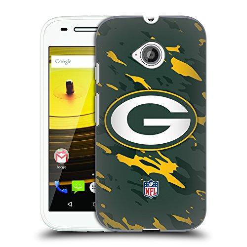Official NFL Camou Green Bay Packers Logo Hard Back Case for Motorola Moto E (2nd gen)