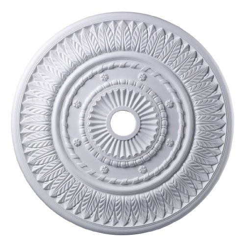 Corinna Medallion 33-in., White - Chrome Medallion