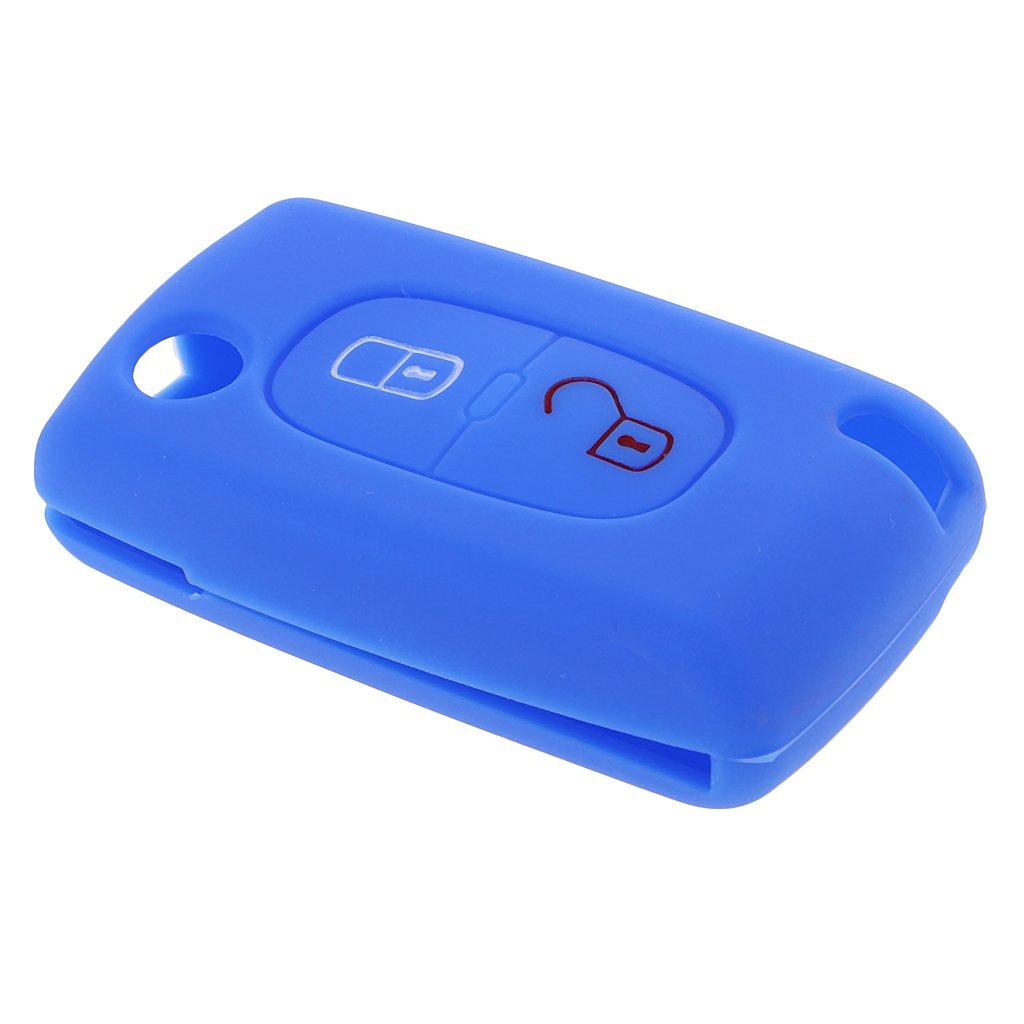 Noir Gazechimp Car Remote Key Case Housse Protecteur Silicone Pour Peugeot 207 307 407