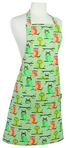Kitchen Style by Now Designs Basic Apron, Owls Print