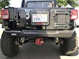 Savvy Jeep Wrangler Spare Tire Delete Cover with License Plate and 3rd LED Kit