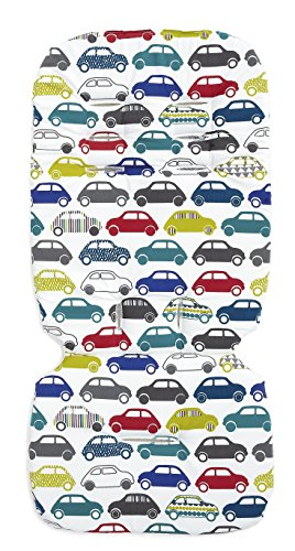 Mamas & Papas Luxury Memory Foam Liner - Traffic Jam by Mamas & Papas
