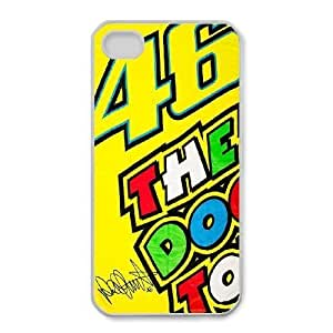iPhone 4,4S Cell Phone Case White Valentino Rossi_005