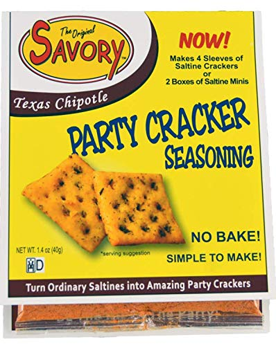 Savory Saltine Seasoning, 1.4 Ounce, Texas Chipotle, 4 Pack