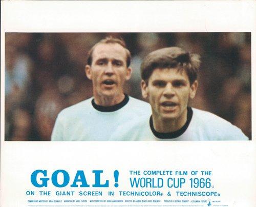GOAL! THE WORLD CUP 1966 ENGLAND VS WEST GERMANY ORIGINAL LOBBY CARD FOOTBALL