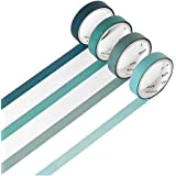 YUBBAEX Natural Color Washi Tape Set 4 Rolls Morandi Decorative Tape for DIY Crafts, Bullet Journals, Planners…