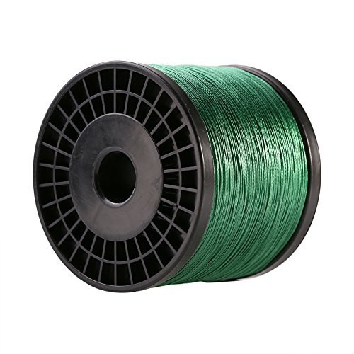 Fishing Line, Fish Rope Cord PE Superbraid Fish Wire Kevlar String Thread Line 500m 8 Strands Abrasion/Water Resistance Paracord for Saltwater& Freshwater Fish Green - Kevlar Thread Invisible