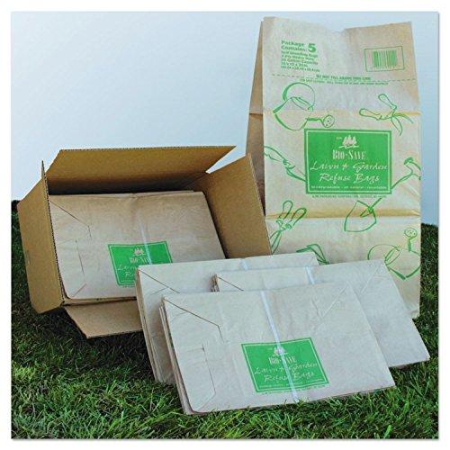 General Supply BAGRBR30105BO Paper Lawn & Leaf Bag, 50lb Kraft, Wet-Strength 16 X 12 X 35, 50 Bags