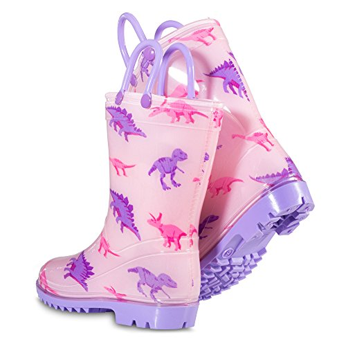 Chillipop Toddler 5-10 Girls Pink Dino PVC Rain Boot, Available in All Kid Sizes by Chillipop (Image #3)
