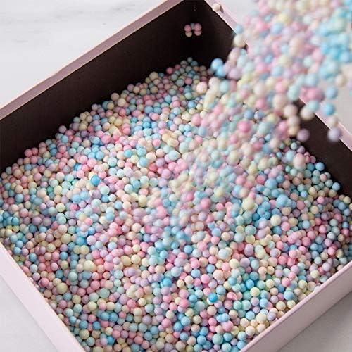 Qianren Caja de regalo Relleno Cuentas de espuma Macaron Color del arco iris Bolas pequeñas Paquete de regalo Cuentas decorativas para bodas Cumpleaños Navidad San Valentín: Amazon.es: Oficina y papelería