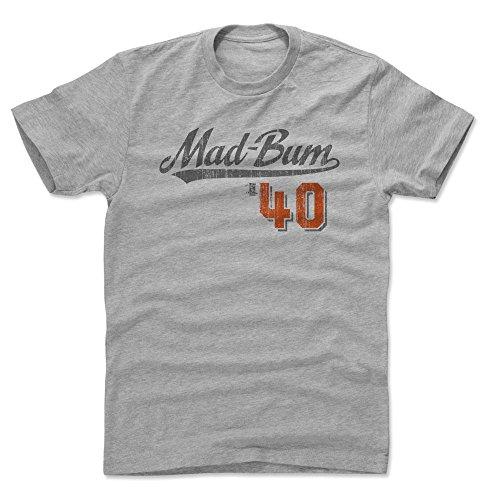500 LEVEL Madison Bumgarner Cotton Shirt XX-Large Heather Gray - San Francisco Baseball Men's Apparel - Madison Bumgarner Players Weekend S ()