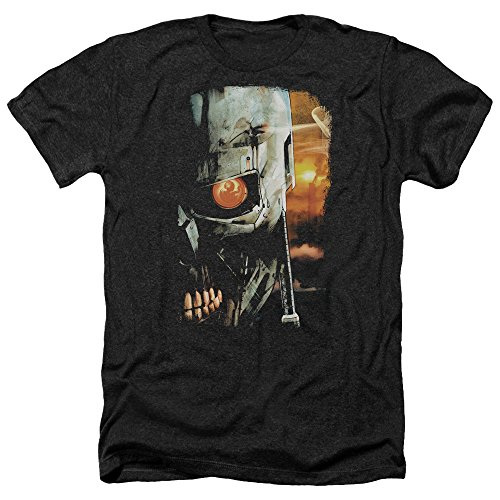 Trevco Unisex Terminator Sketchy Heather Adult T-Shirt - Small or XXL
