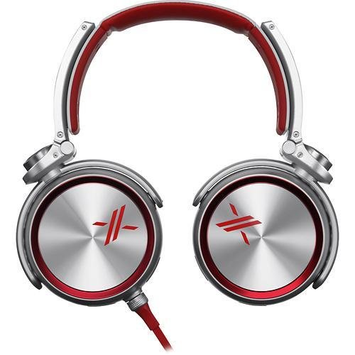 Sony MDRX10/RED X Over-the-Ear Headphones Red/Silver (Certified Refurbished) by Sony