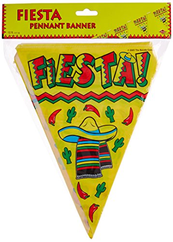 Fiesta Pennant Banner Party Accessory (1 count) (Amols Fiesta Party Supplies)