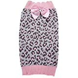 JJ Store Pet Puppy Dog Sweater Winter Leopard Clothes Costume Outwear Coat Apparel for Small Medium Dog