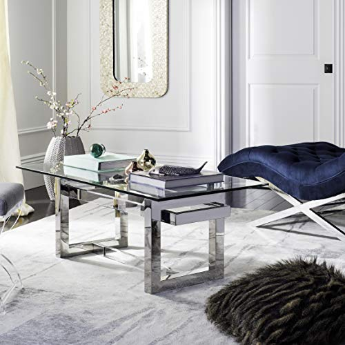 Safavieh SFV2520A Home Collection Montrelle Glass Coffee Table Clear