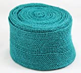 Kel-Toy Jute Burlap Ribbon Roll, 4-Inch by 10-Yard, Jade