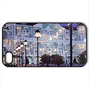 Beach club - Case Cover for iPhone 4 and 4s (Watercolor style, Black)