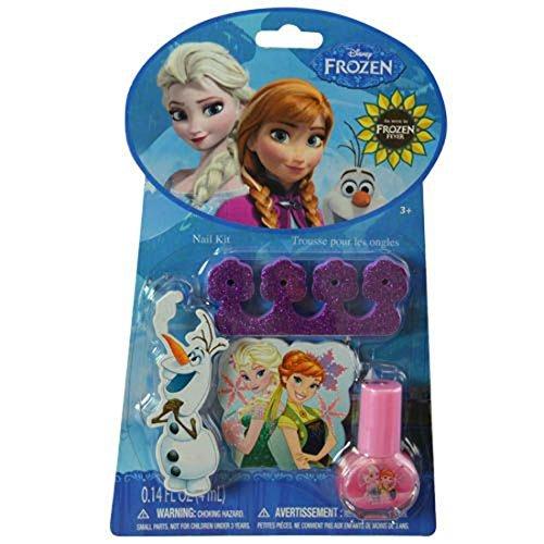 Frozen Disney Elsa, Anna & Olaf Nail Kit and Pedicure Set for (Sven Frozen Costume Makeup)